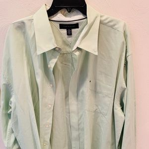 Tommy Hilfiger Long Sleeve Button Down Mint Color
